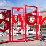 Gijón se viste de rojo (primera fotografía tomada con la cámara del iPad 2)
