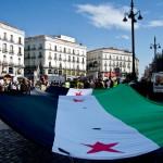 Los sirios protestan en Madrid contra la Constitución de Al Assad (Fotos de Francisco Lopez)