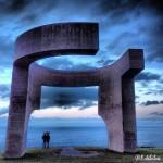 Paseando por Gijón: por el Cerro de Santa Catalina en una tarde de lluvia